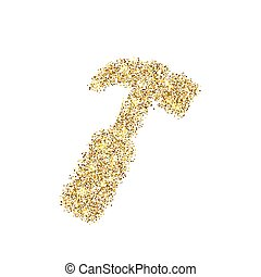 clinquant, concept, art, or, résumé, clair, marteau, arrière-plan., scintillement, isolé, chatoiement, créatif, éclat, bling, icône, poussière, toile, fleuret, confetti, lueur, illustration, sequins, lumière