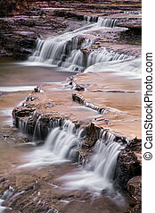 Clinton Falls is a small waterfall in a West Central Indiana town of the same name.