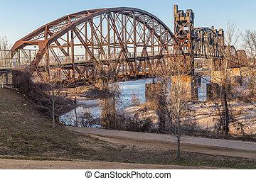 Clinton Presidential Park Bridge in Little Rock, Arkansas