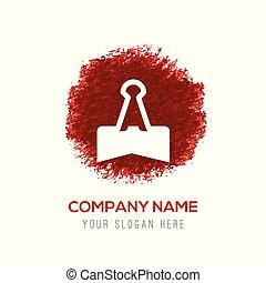 clip, -, acquarello, schizzo, carta, cerchio, rosso, icona