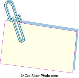 Clip and a piece of paper