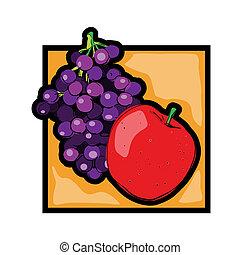 Clip art fresh fruits