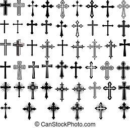 crosses - clip art illustration of crosses