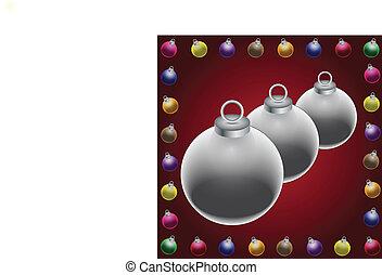 clip art of christmas balls