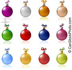 Clip-art of Christmas balls toys