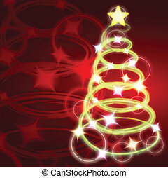 clip art of lighted christmas tree