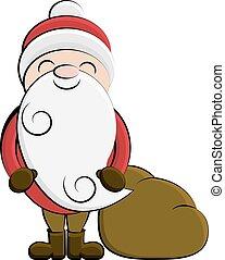 Clip art Santa cartoon