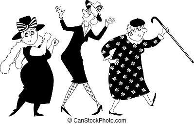 Clip-art women dancing
