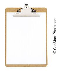 clip board - Clip board and paper