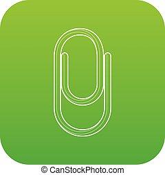 Clip icon green vector