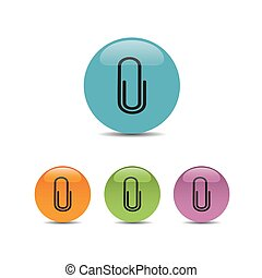 Clip icon on colored buttons