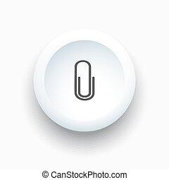 Clip icon on white button