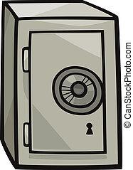 clip, seguro, arte, caricatura, ilustración