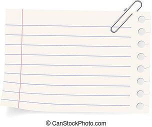 clip, y, un, pedazo de papel
