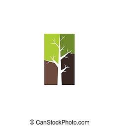 clipart, シンボル, 木, 印, ベクトル, ロゴ