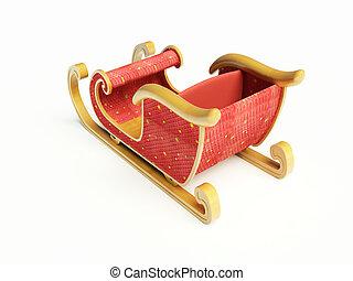 clipart kinderschlitten, claus, santa
