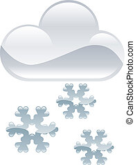 clipart, nieve, tiempo, escamas, il, icono