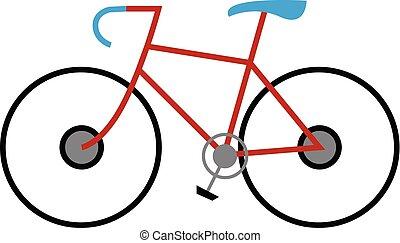clipart, od, niejaki, barwny, modny, rower, z, błękitny, miejsce, i, rączka, wektor, kolor, rysunek, albo, ilustracja