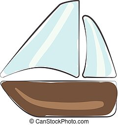 Clipart of a boat vector or color illustration