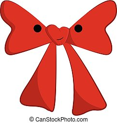 Clipart of a red bow tie with a white exclamation mark...