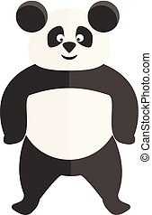 Clipart of a standing panda vector or color illustration