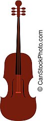 Clipart of the musical instrument, violin, vector or color illustration