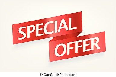 clipart, oferta, banner., wektor, reklama, szczególny