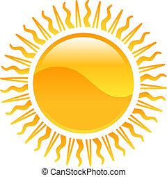 clipart, słońce, ikona