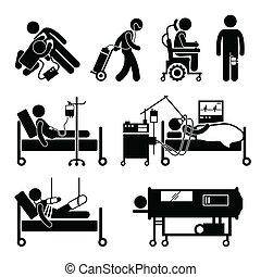 cliparts, equipments, sostegno vita