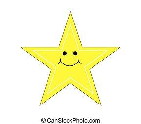 cliparts, unique, étoile