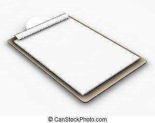 Clipboard - 3D render of a clipboard