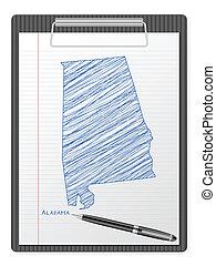 clipboard Alabama map