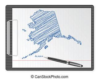 clipboard Alaska map
