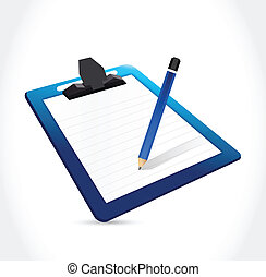 clipboard and pencil illustration