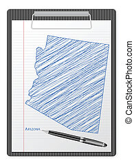 clipboard Arizona map