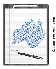 clipboard Australia map