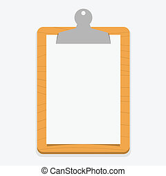 Blank wooden clipboard