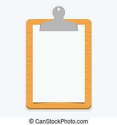 Clipboard - Blank wooden clipboard