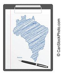 clipboard Brazil map