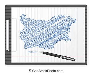 clipboard Bulgaria map