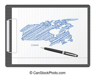 clipboard Canada map