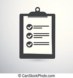 clipboard checklist icon.