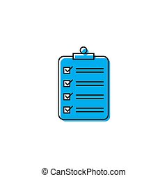 clipboard checklist vector icon concept, isolated on white background