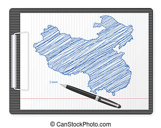 clipboard China map