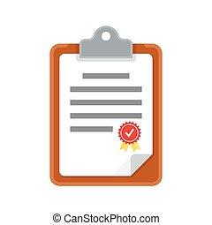 clipboard document, icon.
