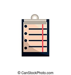 clipboard document office work business equipment icon ...