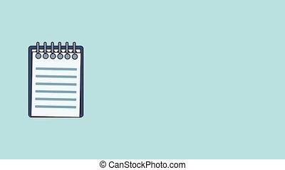 Clipboard document symbol HD animation - Clipboard document...