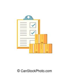 clipboard document with boxes icon