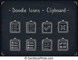 Clipboard Doodle Icons