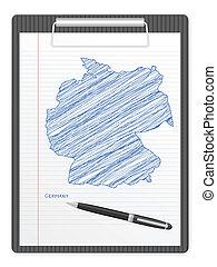clipboard Germany map